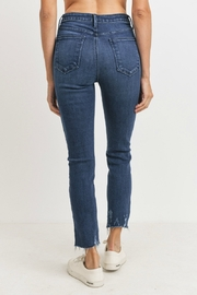 just black High Rise Slim Straight - Side cropped