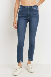 just black High Rise Slim Straight - Front cropped