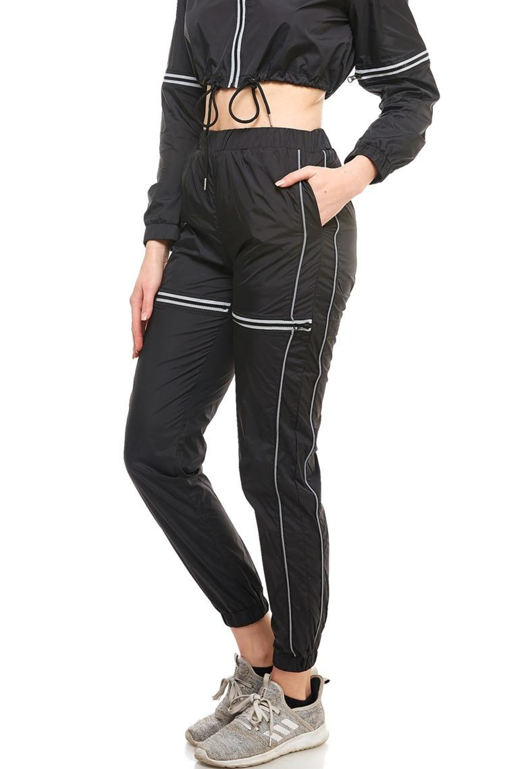 Hot & Delicious High-Rise Track Pants - Front Full Image