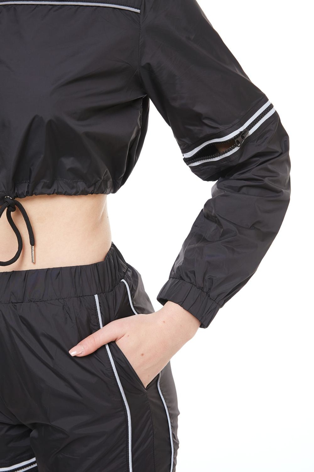 Hot & Delicious High-Rise Track Pants - Back Cropped Image