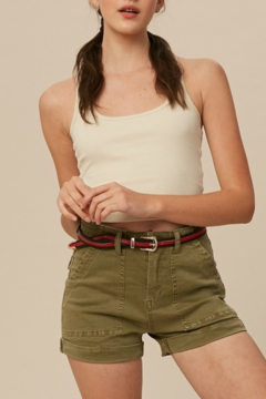 Listicle High Rise Twill shorts - Product List Image