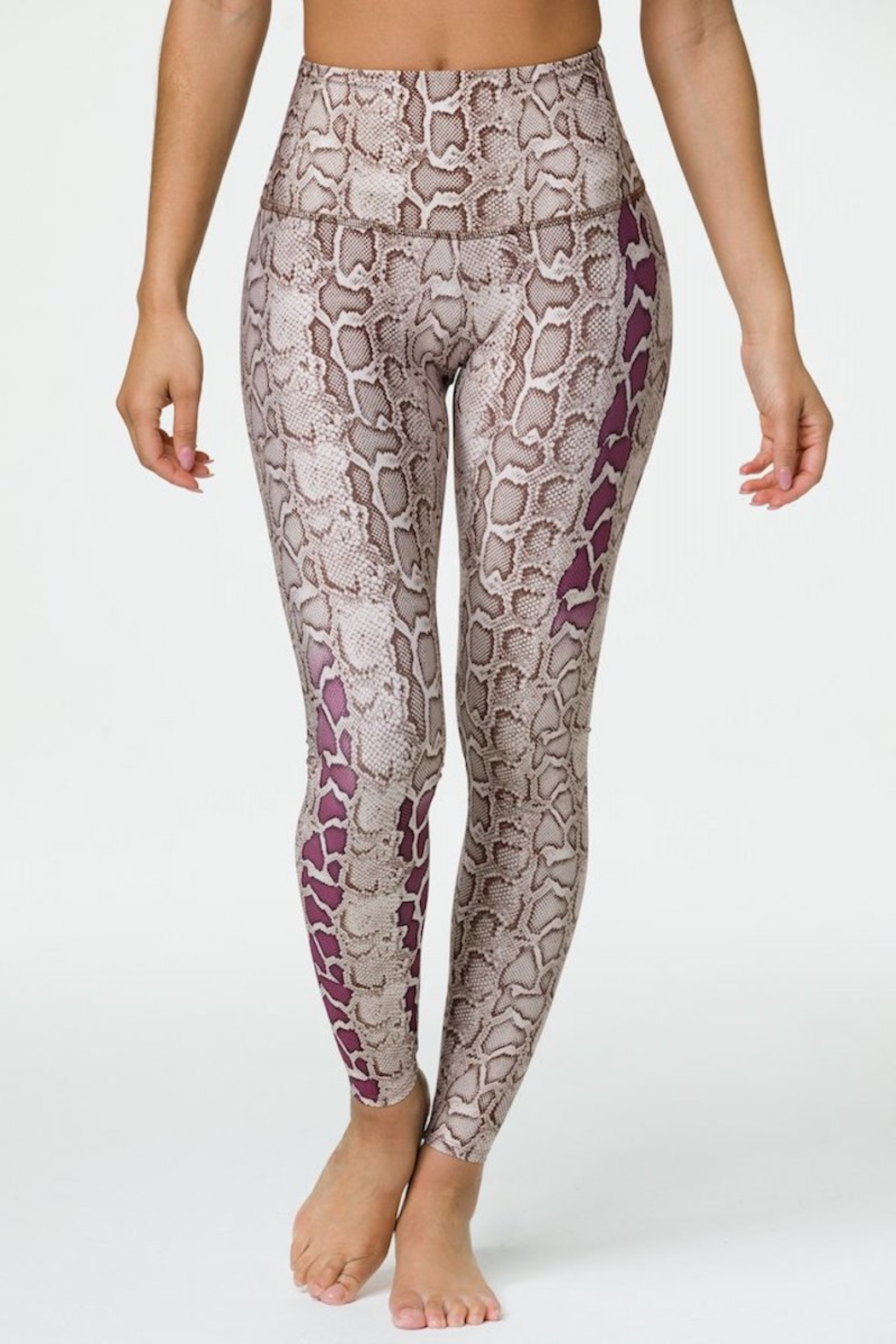 Onzie High Rise Viper Graphic Legging - Front Cropped Image