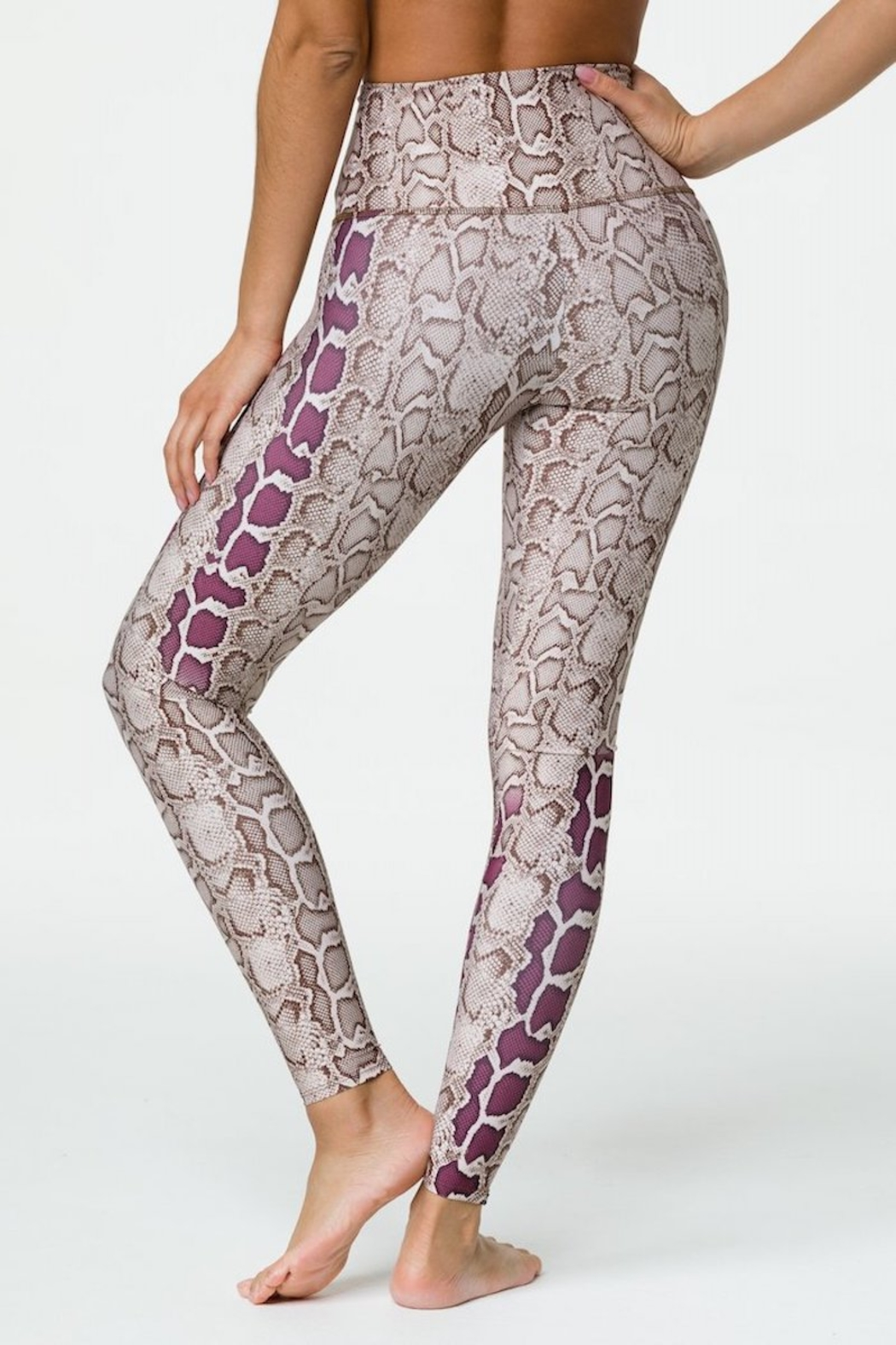 Onzie High Rise Viper Graphic Legging - Side Cropped Image
