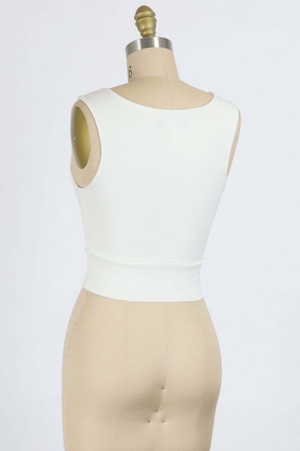 Final Touch High Round Neck Tank Top - Front Full Image