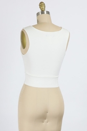 Final Touch High Round Neck Tank Top - Front full body