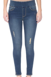 Lola Jeans High Rse Pull-on Ankl Distress - Product Mini Image