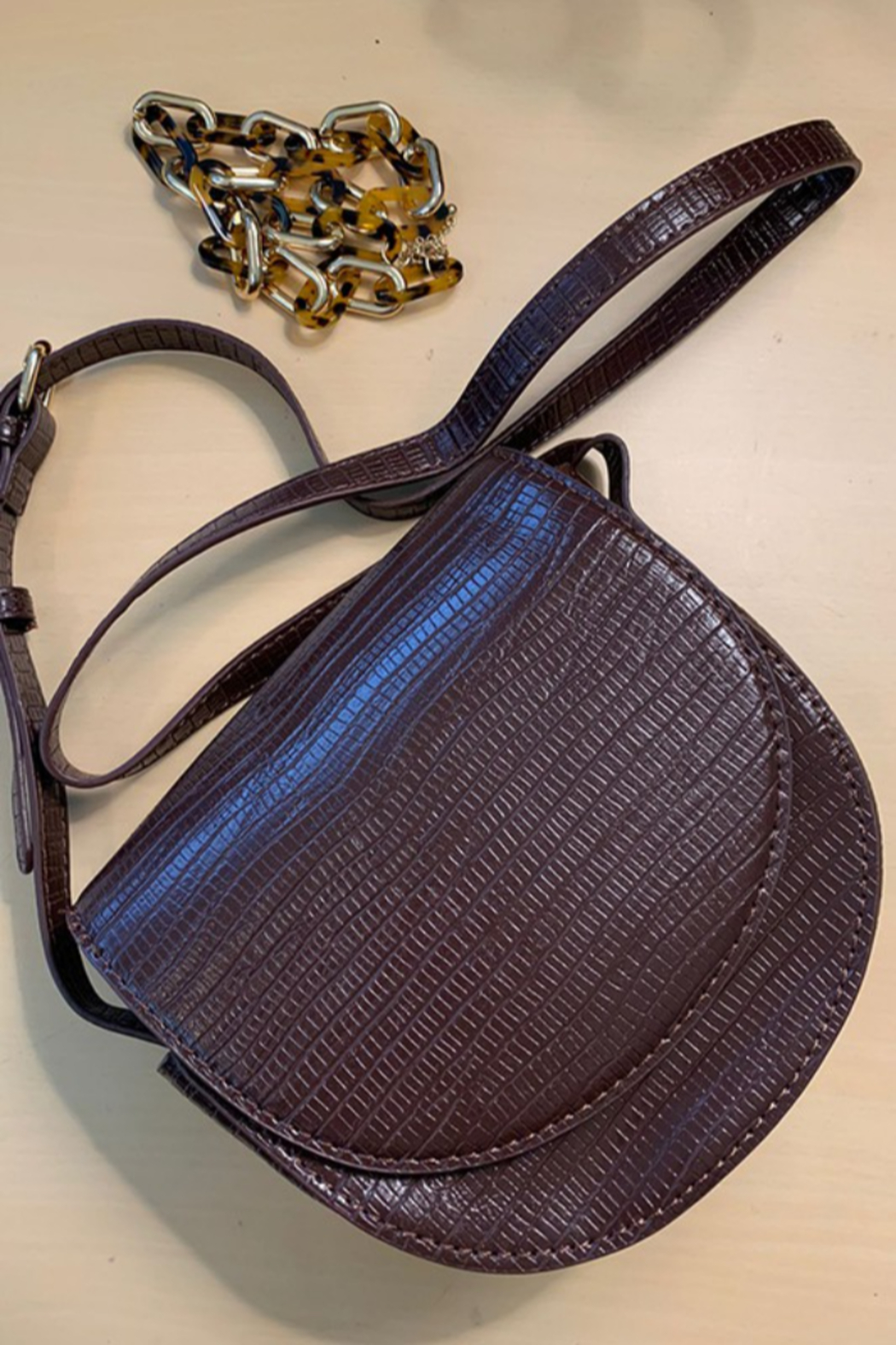 C+D+M High Style Coffee Crossbody Bag - Front Cropped Image