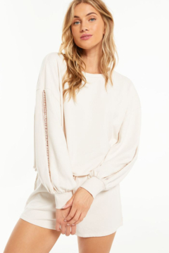 z supply High Tide Terry Long Sleeve Top - Product List Image