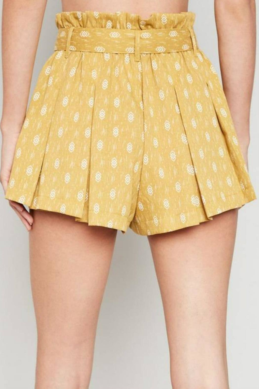 Hayden Los Angeles High-Waist Belted Shorts - Back Cropped Image