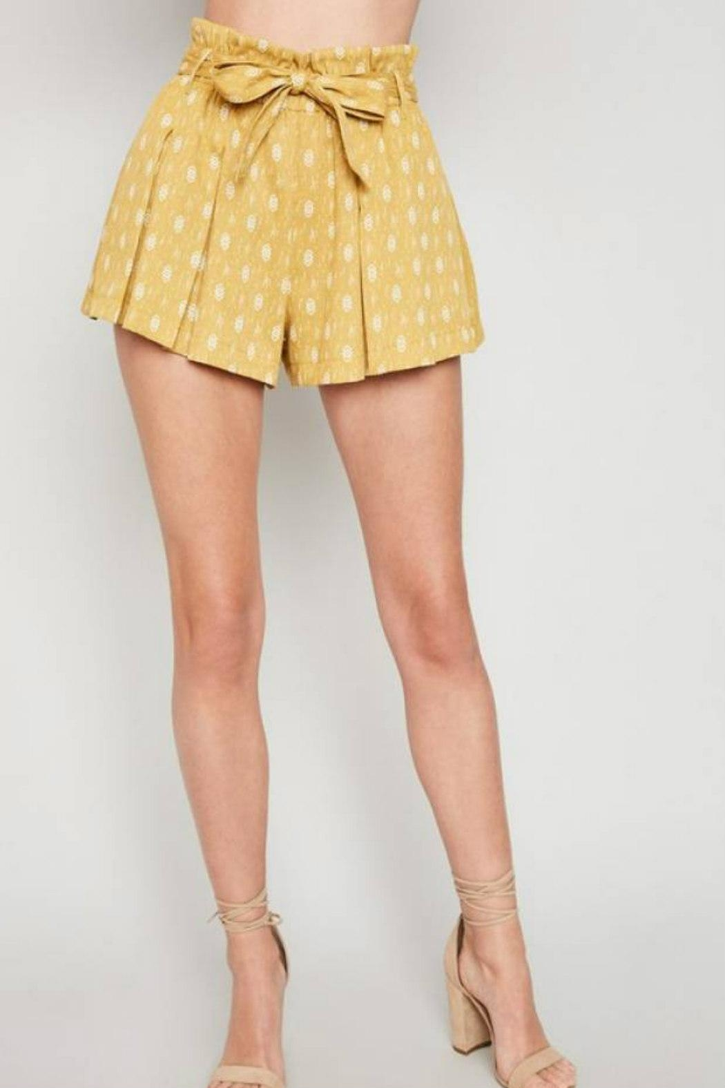 Hayden Los Angeles High-Waist Belted Shorts - Front Full Image