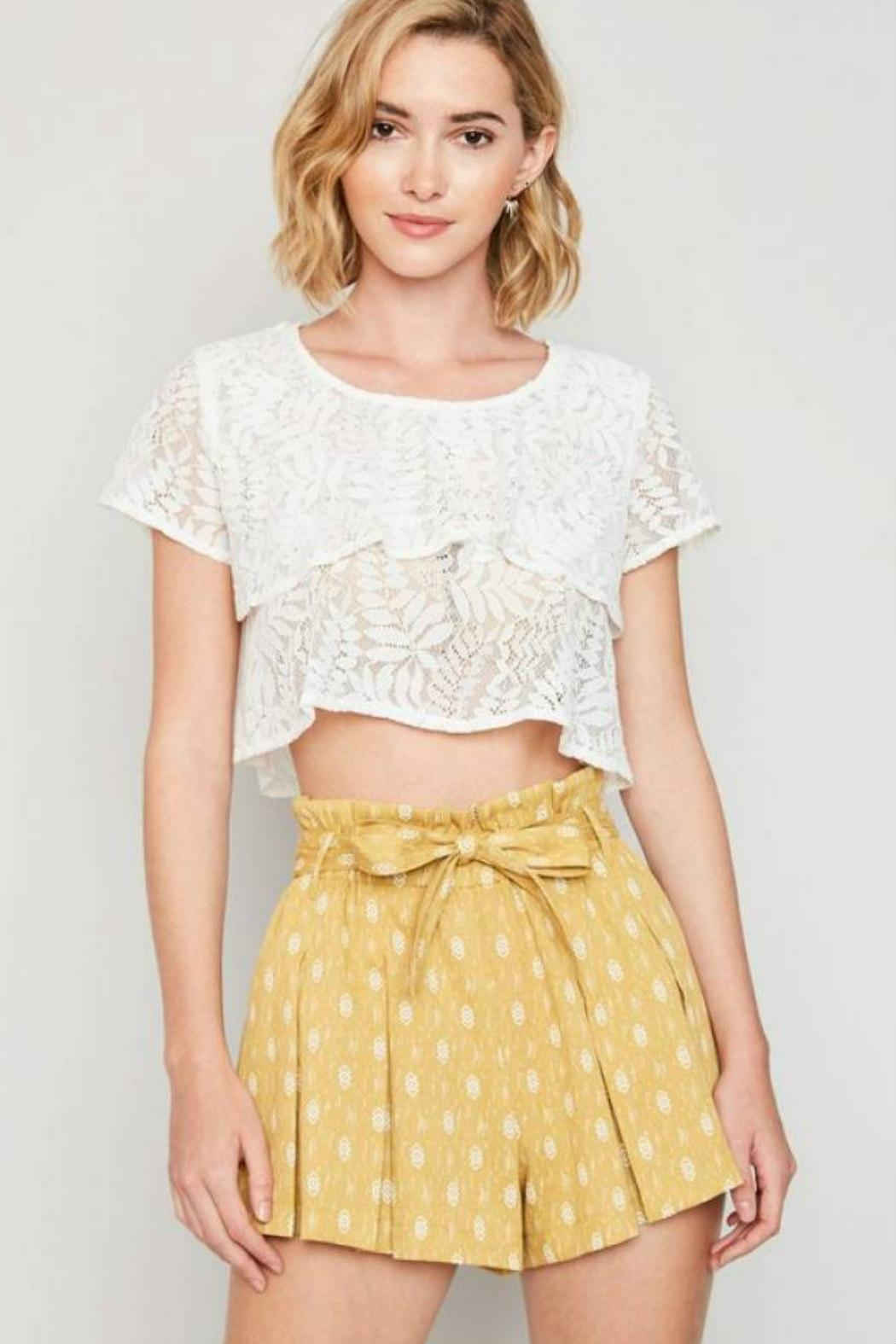 Hayden Los Angeles High-Waist Belted Shorts - Main Image