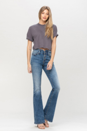 Vervet High waist Button up Flare Jeans - Product Mini Image