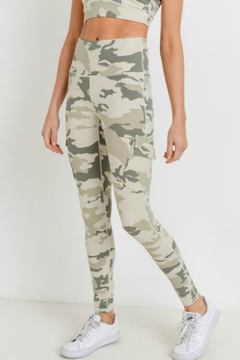 Shoptiques Product: High Waist Camo Cargo Leggings