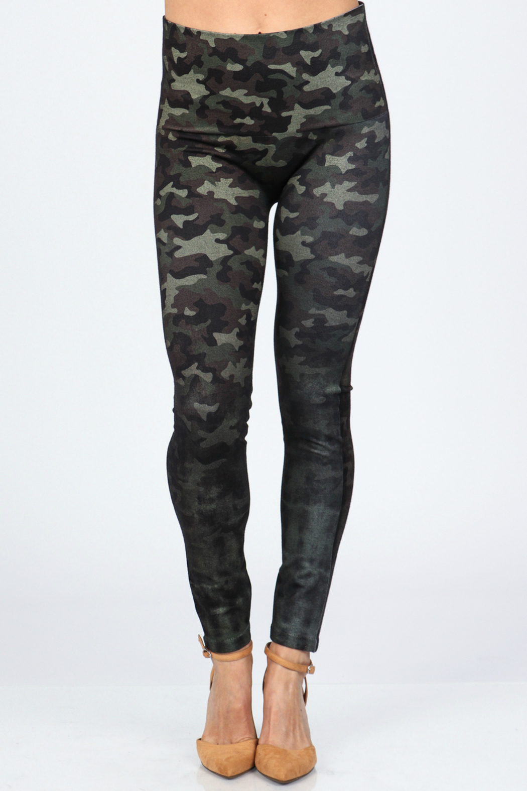 M. Rena High Waist Camo Legging - Front Cropped Image