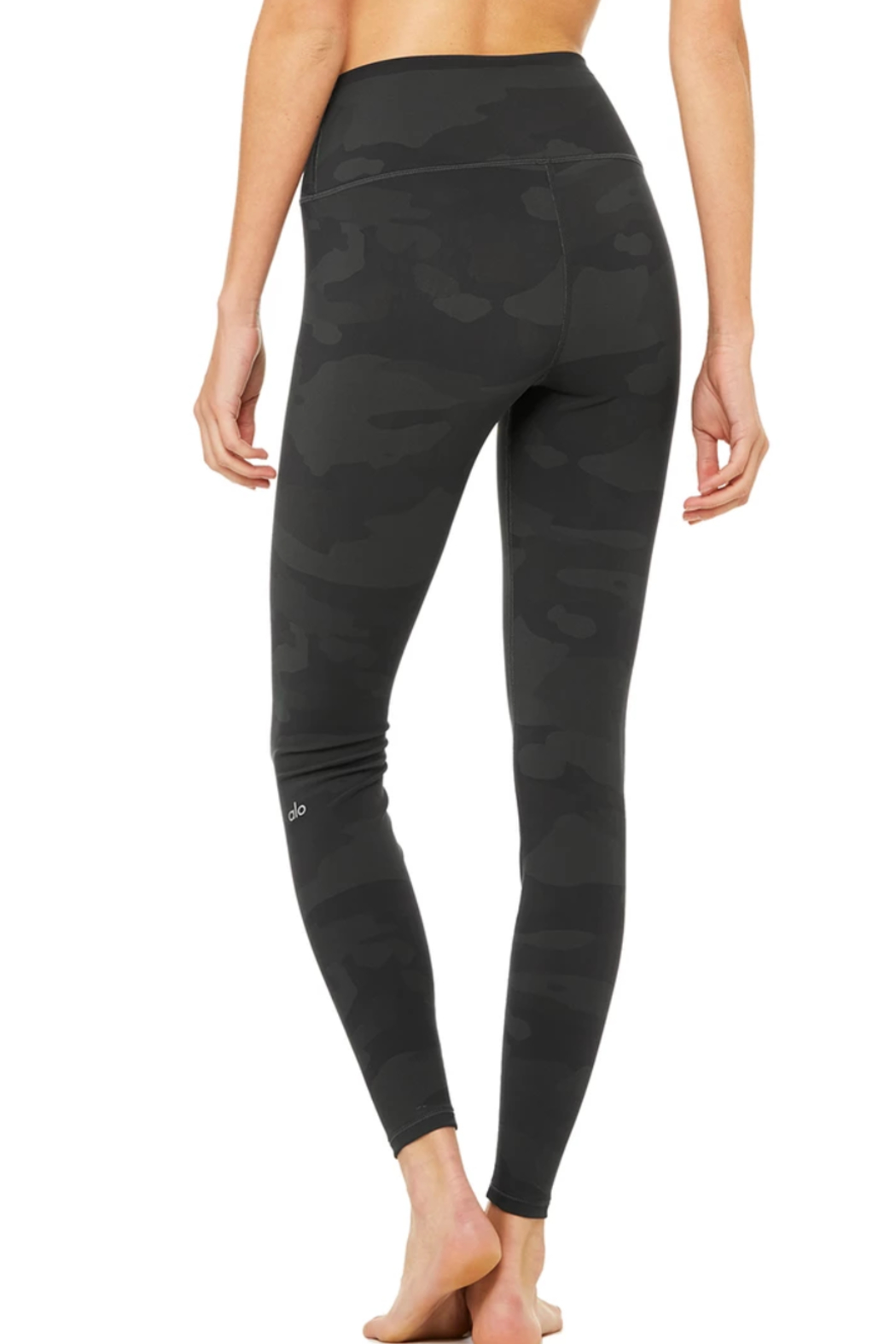 Alo Yoga  High Waist Camo Vapor Legging - Back Cropped Image