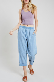 Hem & Thread High Waist Cropped Denim - Product Mini Image