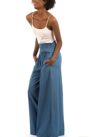 Love in  High-Waist Denim Palazzo - Front cropped