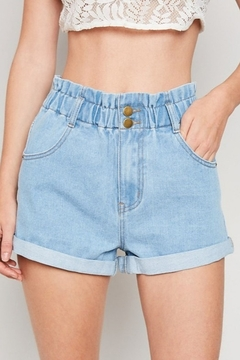 Hayden High Waist Denim Short - Product List Image