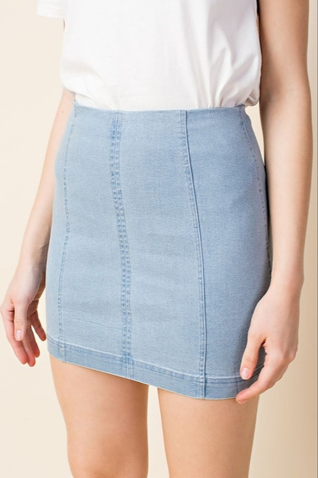 Wild Honey High Waist Denim Skirt - Main Image