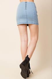 Wild Honey High Waist Denim Skirt - Front full body
