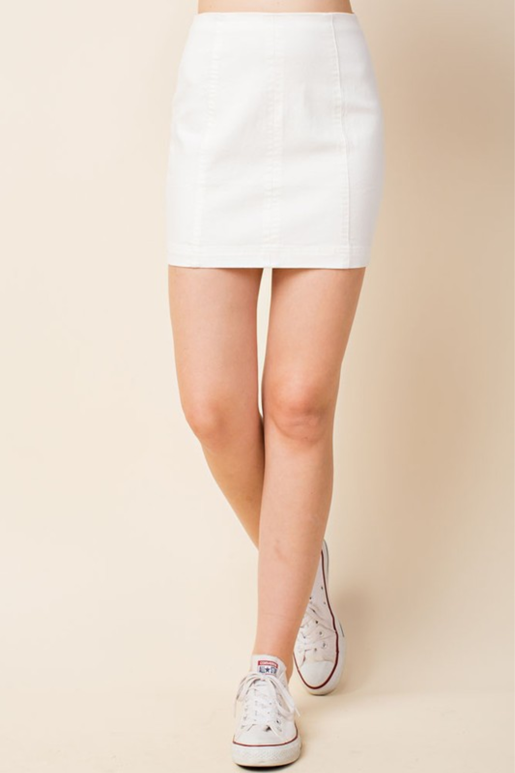Wild Honey High Waist Denim Skirt - Front Cropped Image