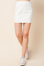 Wild Honey High Waist Denim Skirt - Front cropped