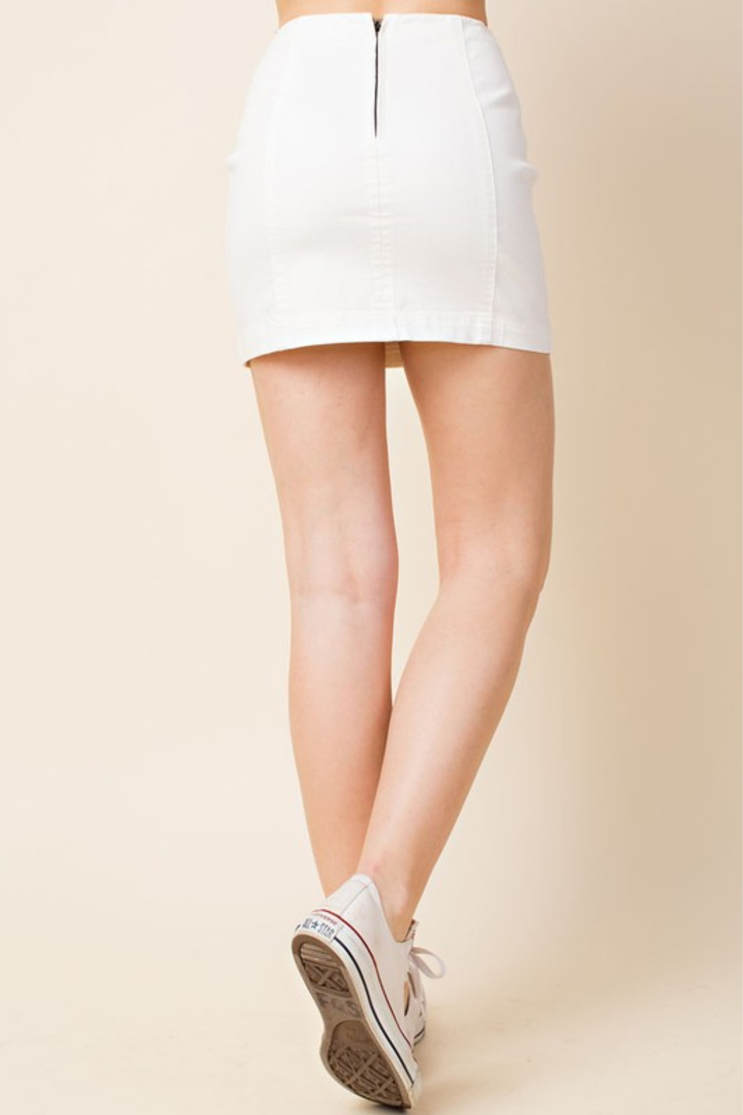Wild Honey High Waist Denim Skirt - Front Full Image