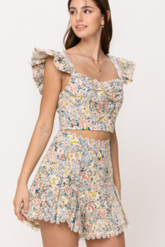 Just Me High Waist Floral Short - Product List Image