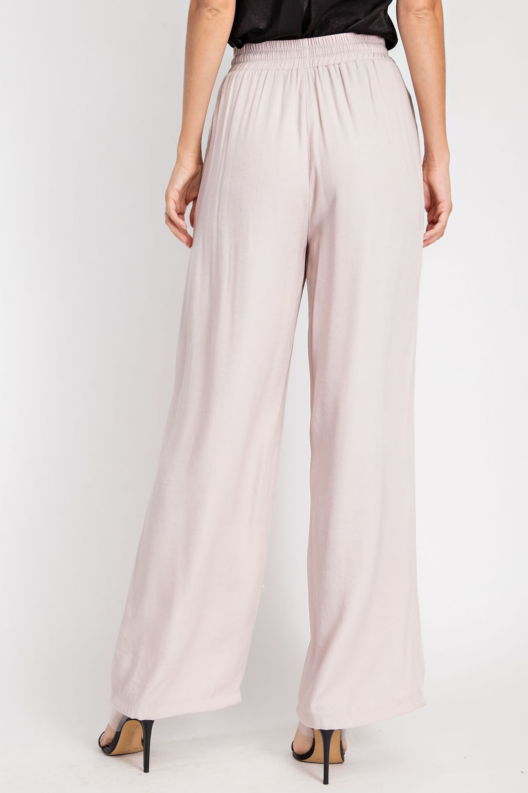 Glam High Waist Flowy pants - Front Full Image