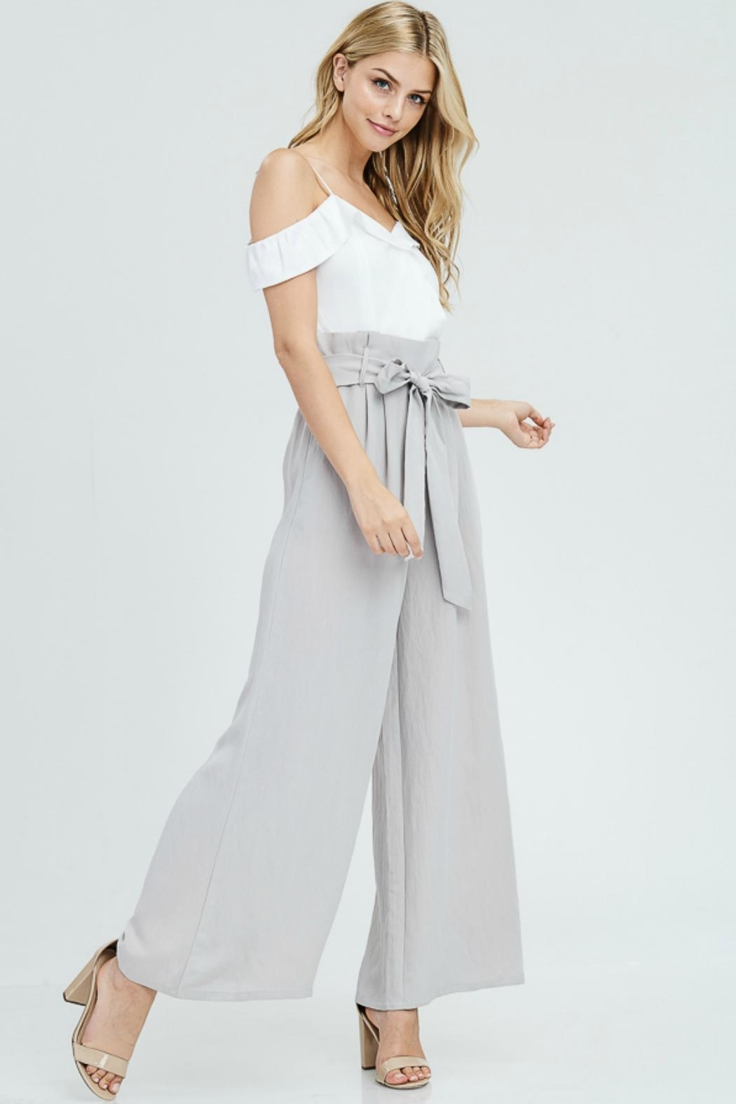 The Clothing Co High Waist Jumpsuit - Front Full Image