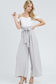 The Clothing Co High Waist Jumpsuit - Back cropped