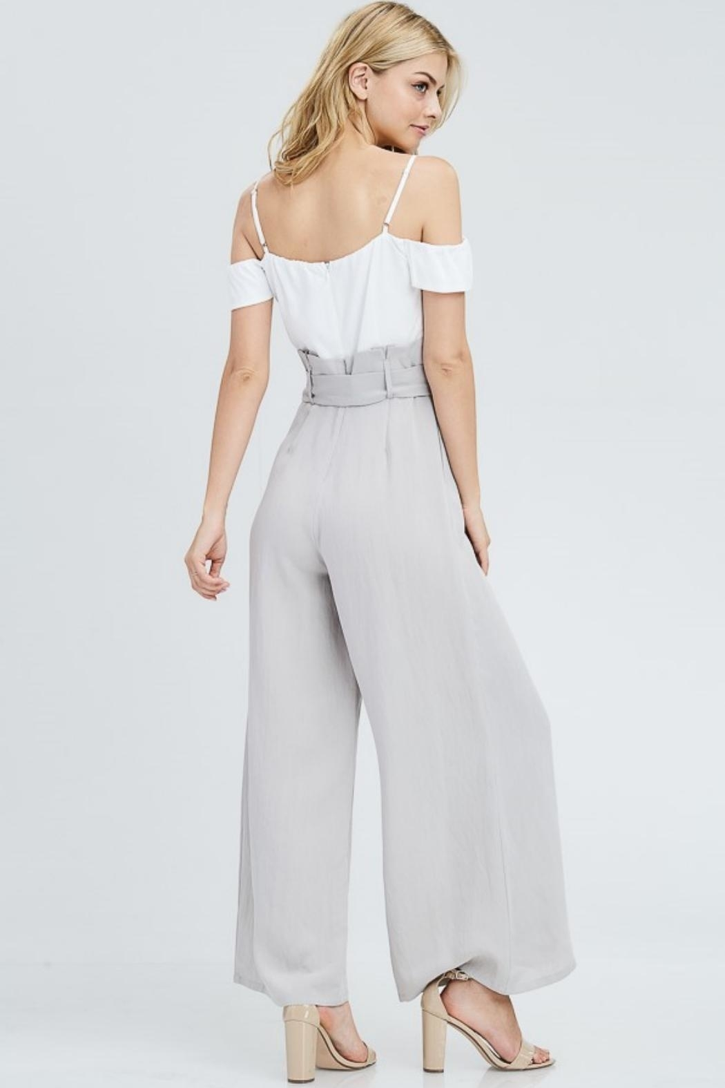 The Clothing Co High Waist Jumpsuit - Side Cropped Image