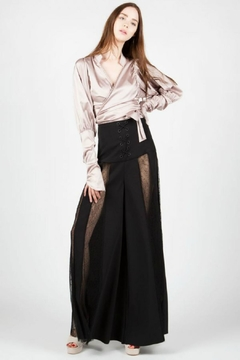 BEULAH STYLE High-Waist Lace Trousers - Product List Image
