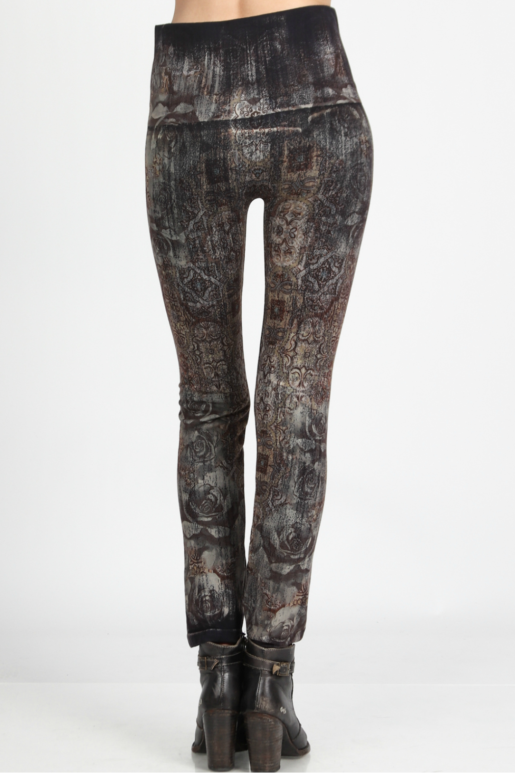 M.Rena high waist leggings with moroccan tile print - Front Full Image
