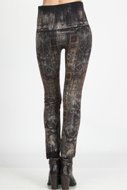 M.Rena high waist leggings with moroccan tile print - Front full body