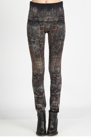 M.Rena high waist leggings with moroccan tile print - Front cropped