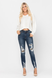 Judy Blue High Waist Leopard Patch Skinny Jean - Product Mini Image