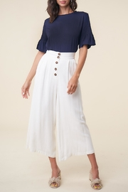 Sugar Lips High-Waist Linen Culottes - Product Mini Image