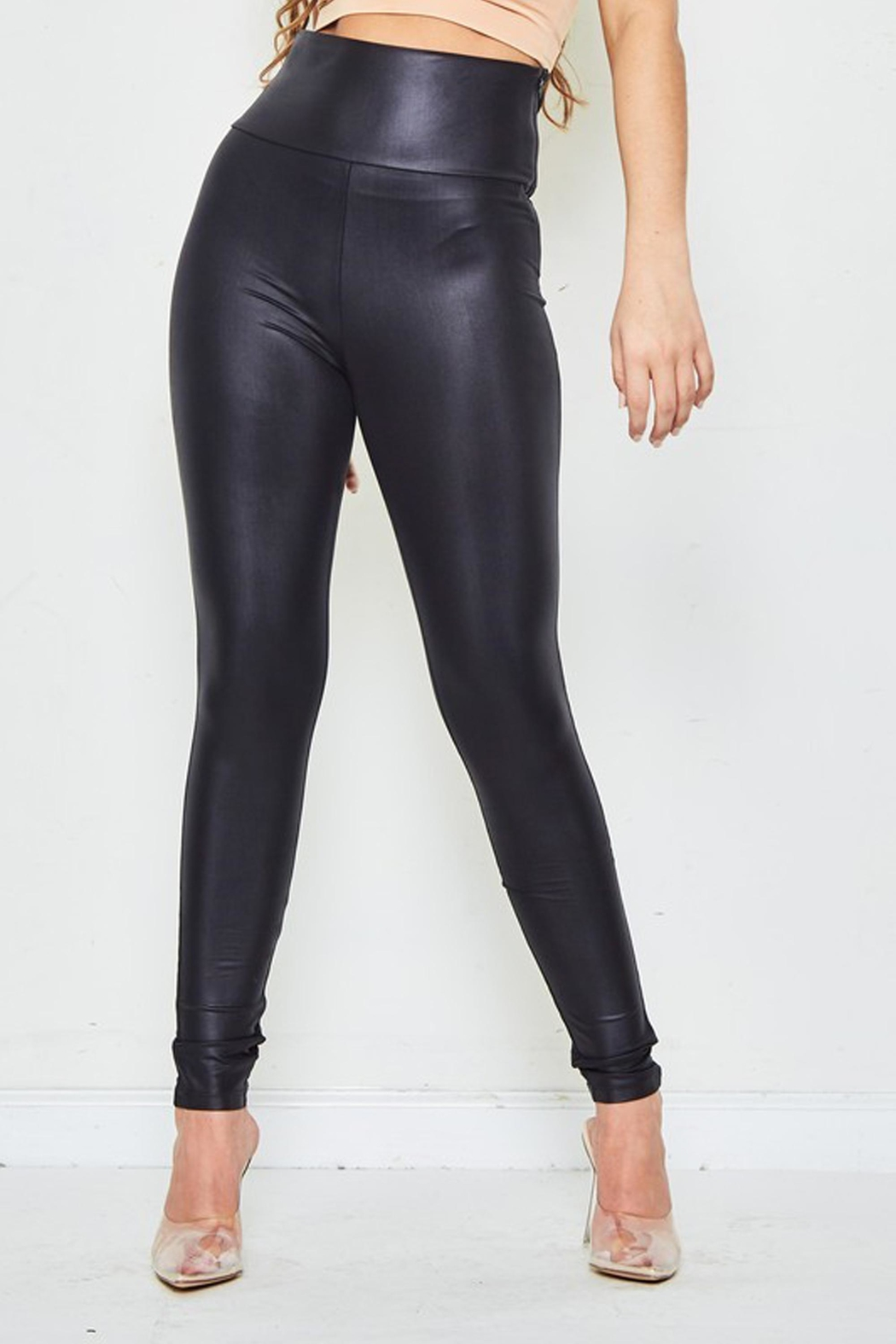 LE SALTY LABEL High-Waist Liquid Leggings - Front Full Image