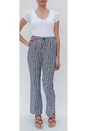 Emory Park High-Waist Navy-White Trousers - Product Mini Image