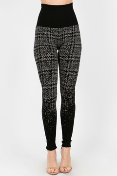 Shoptiques Product: High Waist Ombre Cross Stitch Jacquard Sweater  Legging