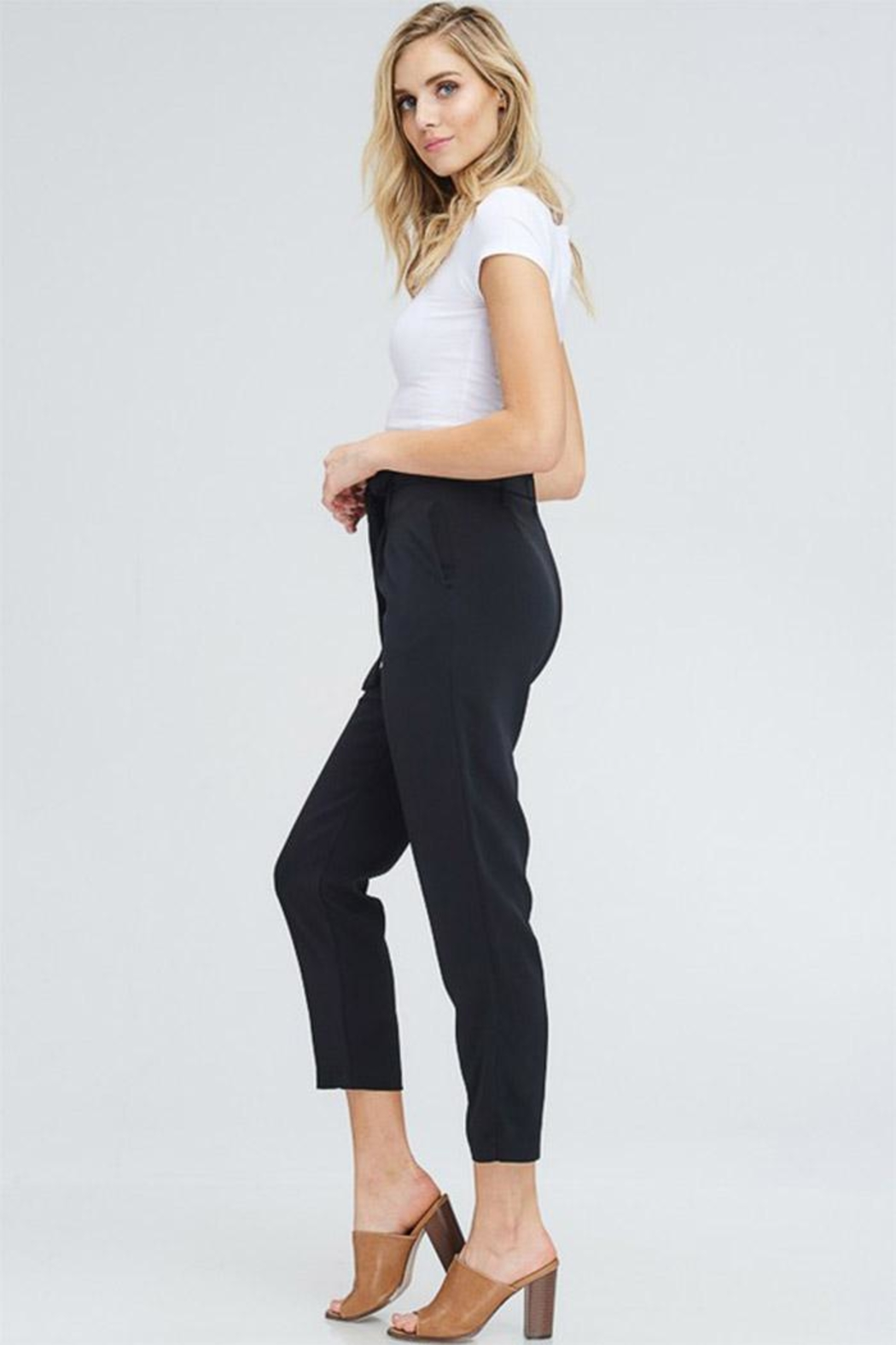 Venti 6 High Waist Pants - Front Full Image