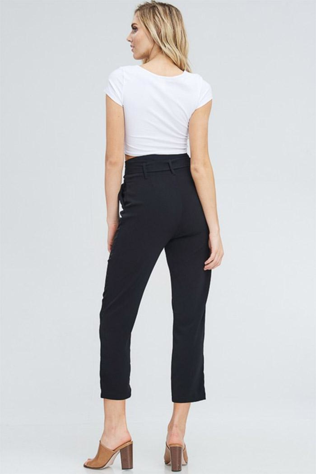 Venti 6 High Waist Pants - Side Cropped Image
