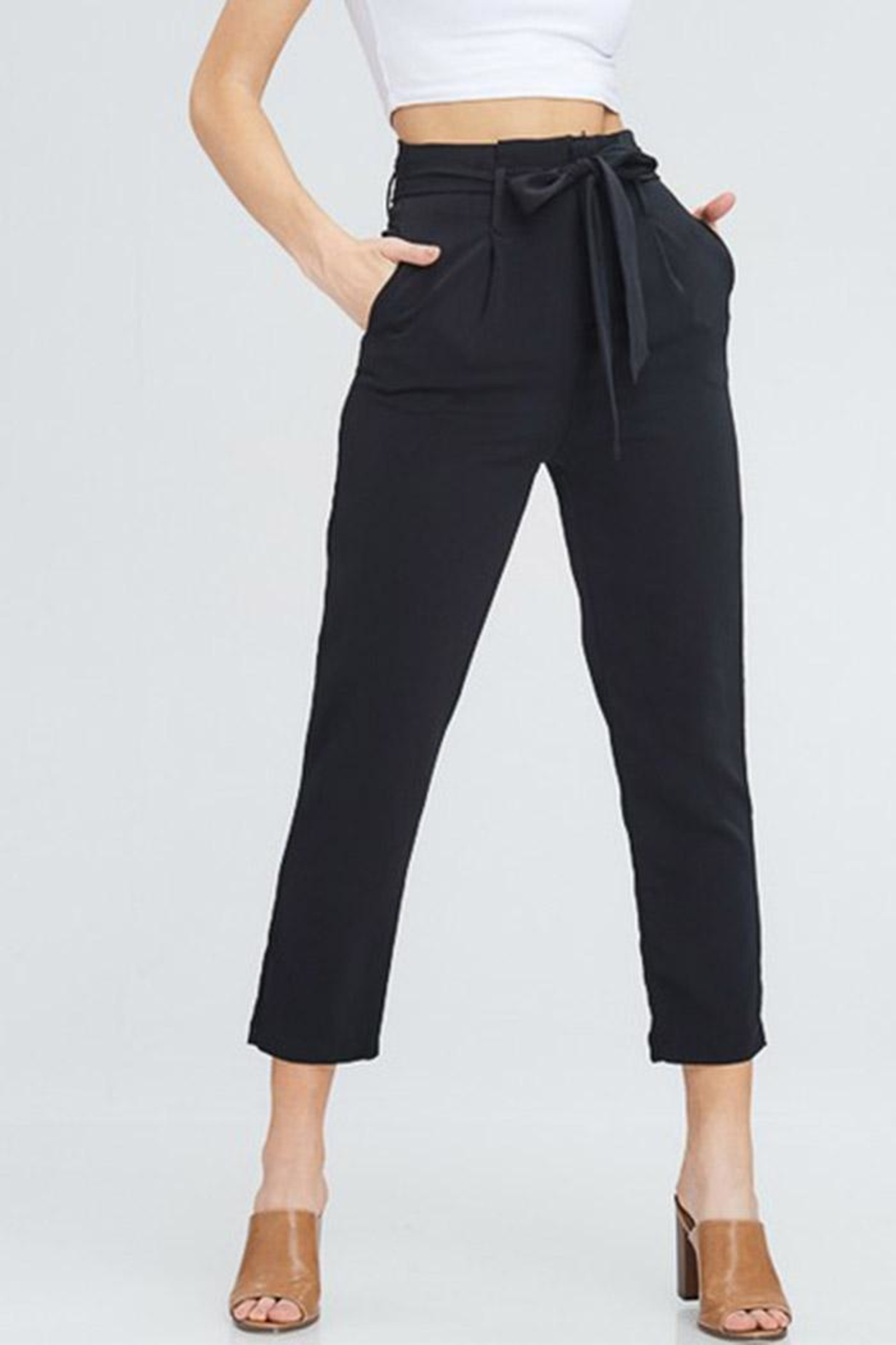 Venti 6 High Waist Pants - Front Cropped Image