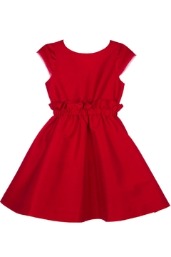 Shoptiques Product: High-Waist Red Party-Dress