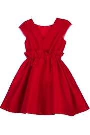 Luli & Me High-Waist Red Party-Dress - Front full body