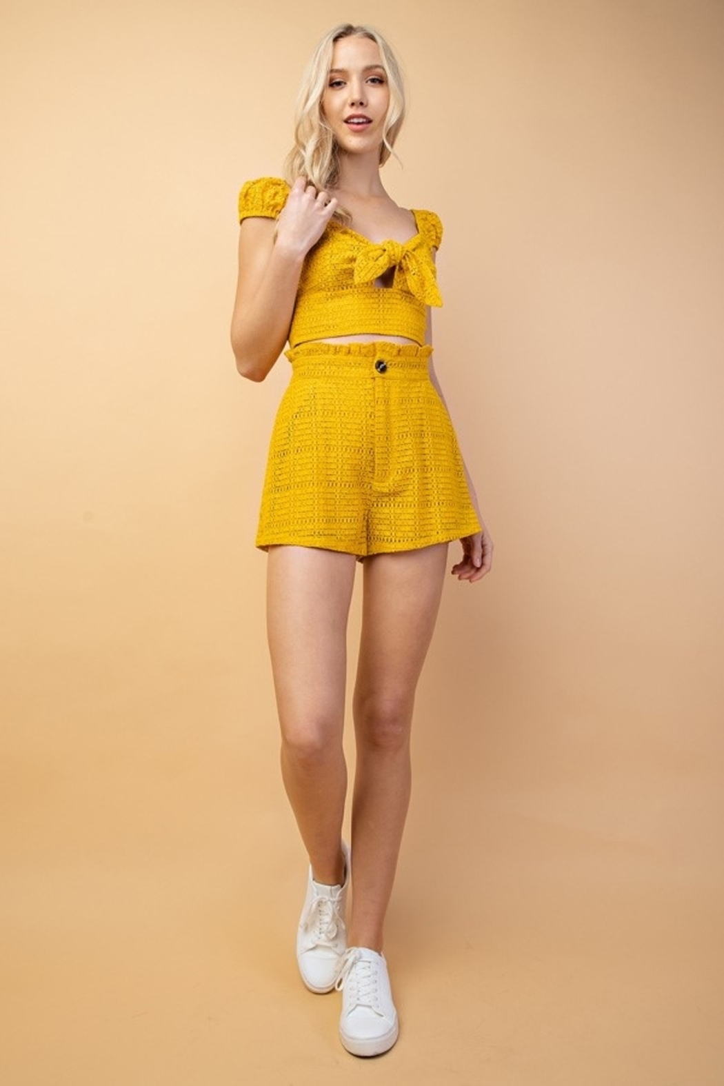 Le Lis High Waist Shorts - Front Cropped Image