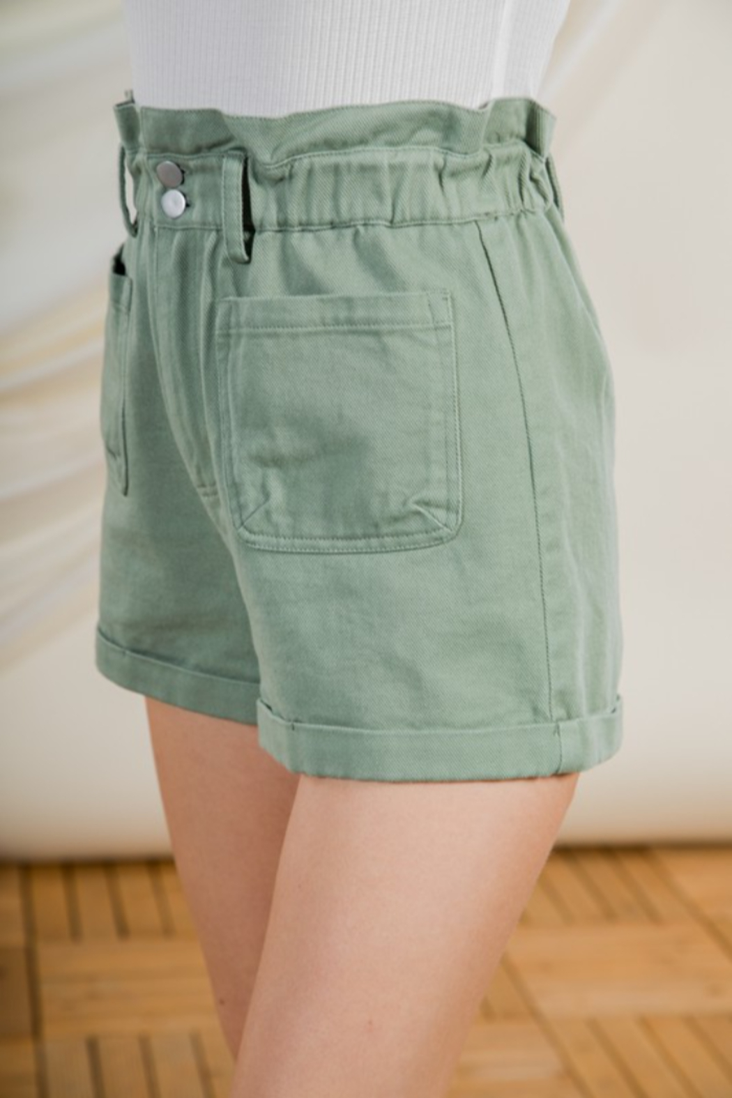 Very J  High Waist Shorts - Side Cropped Image