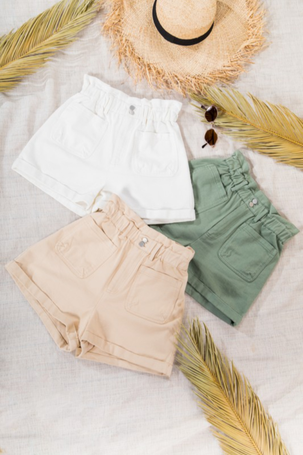 Very J  High Waist Shorts - Front Cropped Image