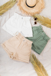 Very J  High Waist Shorts - Front cropped